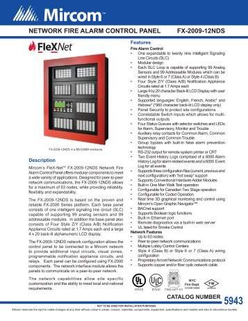 cat 5943 flex net fx 2009 12n network fire alarm mircom?quality=85 fire fighter telephones mircom mircom fx 2000 wiring diagram at fashall.co