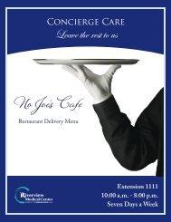 No Joe's Cafe - Riverview Medical Center