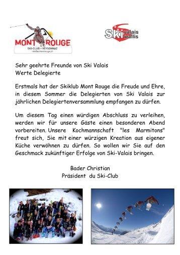 Einladung und Anmeldeformular SC Mont Rouge für das ... - Ski Valais