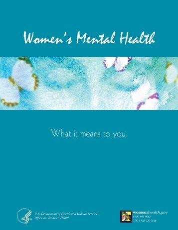 Women's Mental Health - SAMHSA Store - Substance Abuse and ...