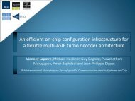 An efficient on-chip configuration infrastructure for a flexible multi ...