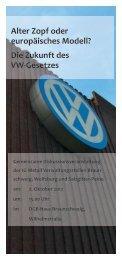 Die Zukunft des VW-Gesetzes - Bernd Lange