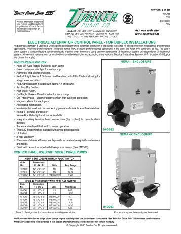 FM0486-Electrical Alternator Control Panel Catalog ... - Pump Express