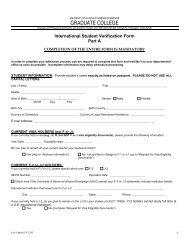 International Student Verification Form - The Graduate College at ...