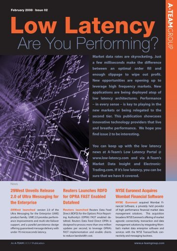 Low-Latency: Are You Performing - Interactive Data