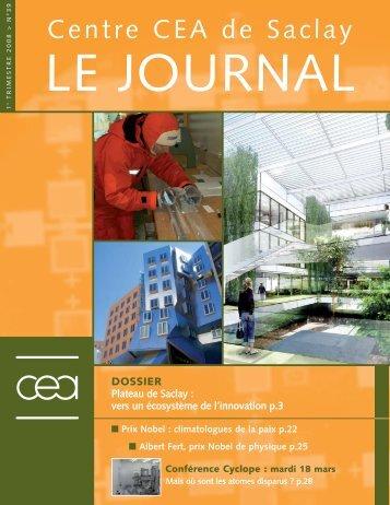 Journal de Saclay n° 39 - CEA Saclay