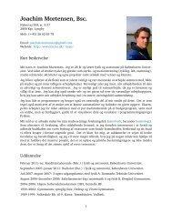 Curriculum Vitae - Niels Bohr Institutet - Københavns Universitet