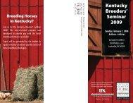 Kentucky Breeders' Seminar 2009 - Kentucky Quarter Horse ...