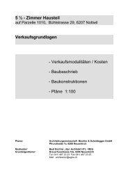 5 ½ - Zimmer Hausteil - Architekturbüro Büchler + Scheidegger GmbH