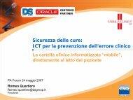TABULA CLINICA - Cartella clinica su Tablet PC in corsia - Forum PA