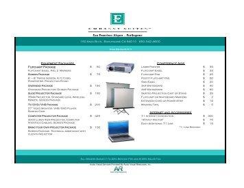 Audio Visual Pricelist - Embassy Suites