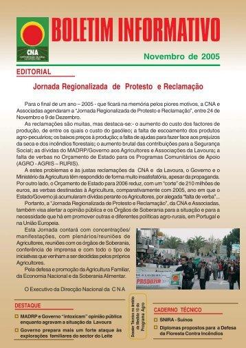 Boletim Informativo Novembro de 2005 - CNA