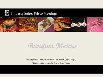 banquet menu template embassy suites hilton