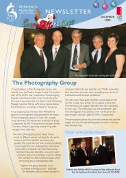 Newsletter December 2008 - Alzheimer's Australia