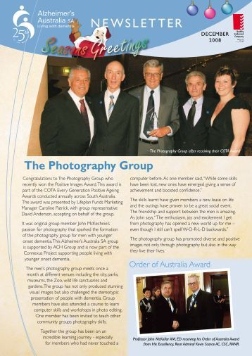 Newsletter December 2008 - Alzheimer's Australia