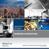 Gehaltsstudie 2013/2014 Engineering & Manufacturing
