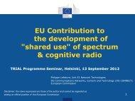 EU Contribution to the development of