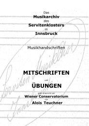 Mitschriften und Übungen von Alois Teuchner