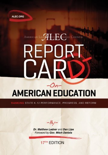 ALEC's Report Card on American Education - American Legislative ...