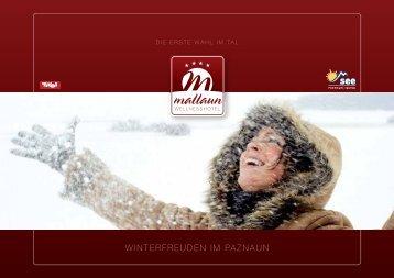 WINTERFREUDEN IM PAZNAUN - Wellnesshotel Mallaun