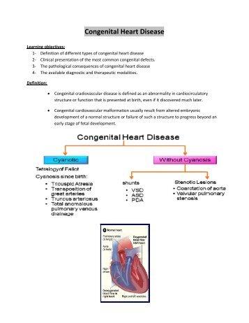 Congenital heart disease r