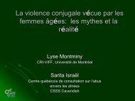 La violence conjugale vécue par les femmes âgées - Agence de la ...