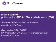 vs. private sector (SOX) - The Institute of Internal Auditors
