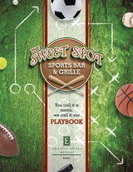 Sweet Spot Sports Bar & Grille Menu - Embassy Suites