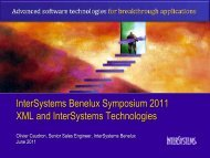 XML handling in InterSystems technologies - InterSystems Benelux