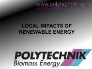 LOCAL IMPACTS OF RENEWABLE ENERGY