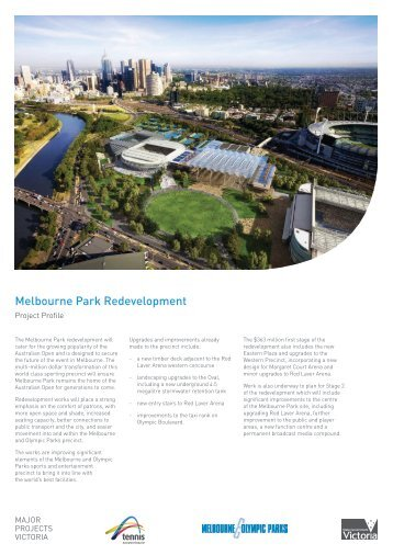 Melbourne Park Redevelopment - Major Projects Victoria