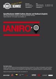 Spezifikationen IANIRO Gulliver, Blonde und ... - Dedotec Schweiz