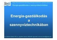 Energia-gazdálkodás a szennyvíztechnikában - Magyar ...