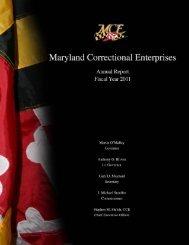 MARYLAND CORRECTIONAL ENTERPRISES ANNUAL REPORT ...