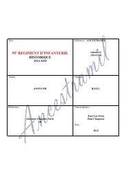 95 REGIMENT D'INFANTERIE - Ancestramil