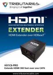 HX1C6-PRO - HDMI Extender over HDBaseT - Tributaries Cable