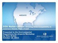 Noise Management_DIA - Colorado Airport Operators Association