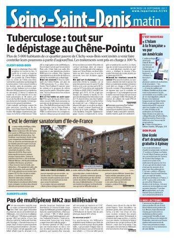 Tuberculose:toutsur ledépistageauChêne-Pointu - Pierrefitte Socialiste