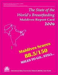 25 Oct - Maldives Report Card... - World Breastfeeding Trends Initiative