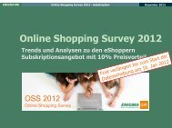 Die Informationen zum Online Shopping Survey 2012 ... - ENIGMA GfK