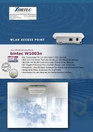 Datenblatt bintec W1003n - Xortec.de