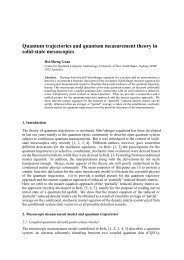 Quantum trajectories and quantum measurement theory in solid ...