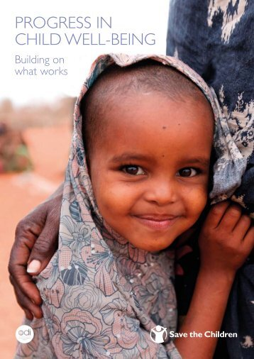 Progress in Child Well-Being: Building on What - Save the Children