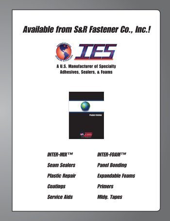 IES Product Catalog - S&R Fastener Co., Inc.