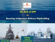 The Role of DPP In Boosting Indigenous Defence Shipbuilding
