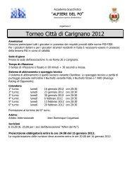 Torneo Città di Carignano 2012 - VeSuS!!!