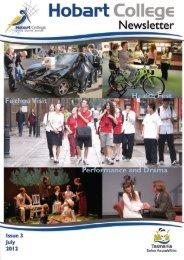 Hobart College Newsletter 3 2012 - Tasmanian Academy