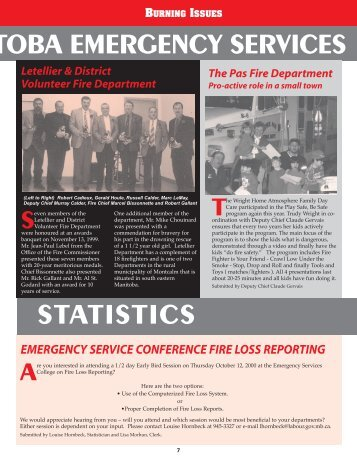 Fall 2000 Issue - Office of the Fire Commissioner
