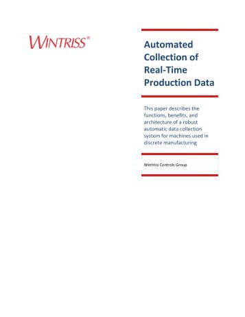 Automated Collection of Real-Time Production Data - Automation.com