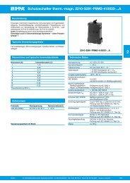 Schutzschalter therm.-magn. 2210-S291-P9M2-410033-...A - metes ...
